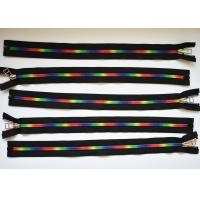 Quality Plastic Type Sewing Notions Zippers , rainbow teeth multi colored zipperr for garment wholesale