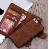 Quality 2 In 1 Iphone 7 Leather Wallet Case , Oil Leather Vintage Wallet Case wholesale