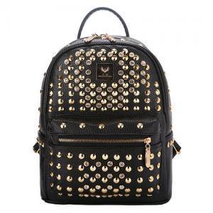 Quality PU leather Rivets backpacks women backpacks college student School Backpacks mochilas wholesale
