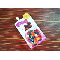 Cheap Custom Printed Spout Pouch PlasticDdrinking Water Bag With Logo Printing for sale