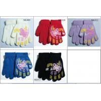 Quality kids' knitted gloves acylic gloves SK009-sk013 beautiful style children gloves wholesale