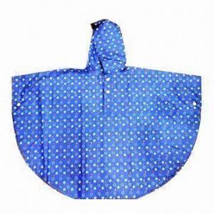 Quality Printed rain poncho/children's fashionable poncho wholesale
