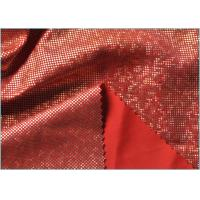 Quality Red Mystique Supplex Spandex Dancewear Fabric , Polyester Spandex Lycra Fabric wholesale