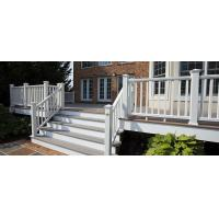 Quality Coffee Balcony Recycled Plastic WPC Deck Railing  With High Impact Resistant Low Mantain wholesale