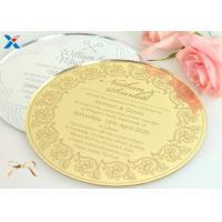 Quality Round Shape Acrylic Gifts / Acrylic Wedding Invitation Cards With Different Color wholesale