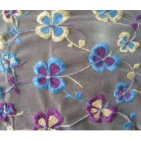 Quality embroidered mesh fabric with embroidery wholesale
