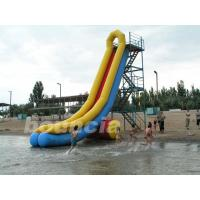 Quality OEM / ODM PVC Tarpaulin Airtight Inflatable Water Slide For Lake Or Sea wholesale