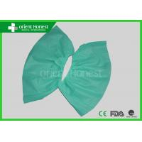 China Green Medical Shoe Covers Disposable Shoe Cover Anti static And Water Repellent on sale