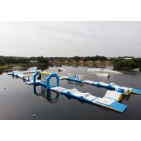 Quality Bouncia 2018 New Inflatable Water Obstacle Course For Wake Park wholesale