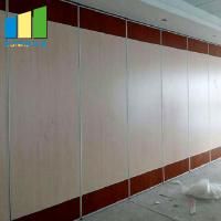 China Conference Hall Soundproofing Foldable Wall Sliding Folding Partition With Access Door on sale