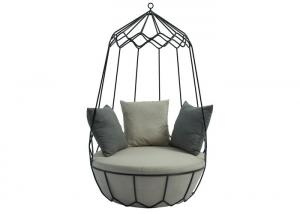 Quality 39.76'' X 65.75''H Outdoor Iron Ceiling Hanging Swing Chair wholesale