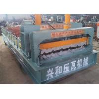China PPGI Roof Panel Roll Forming Machine , Corrugated Sheet Roll Forming Machine on sale