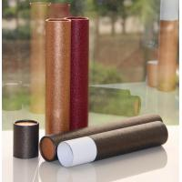 Quality Classical Leather Surface Cardboard Paper Cans Packaging with SGS Certification wholesale