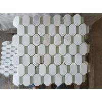 Quality Artificial Hexagon White Carrara Marble Tiles , Hotel White Carrara Hexagon Tile wholesale