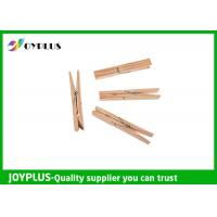 Quality Safety Household Plastic Clothes Pegs Wooden Clips For Clothes OEM / ODM Available wholesale