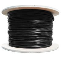 Black Color CAT6 Network Cable PE Jacket For Outdoor Networking , High