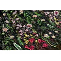 Quality Stretch Multi Colored Floral Heavy Beaded Lace Fabric For Wedding Dress Decoration wholesale