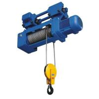 China Foot Mounted Electric Wire Hoist 2/1 4/1 Rope Reeving Leading Crane For Lifting Goods on sale