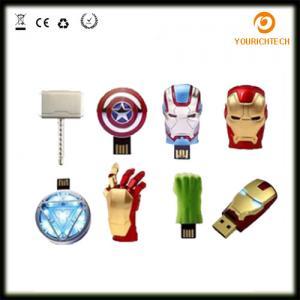 Quality Avengers USB Flash Drive 4G Iron Man 8G Pen Drive 16G Captain America 32G USB Stick Hulk Thor PenDrive U Disk USB Drive wholesale