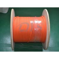 Buy cheap Indoor 62.5 / 125um Fiber Optic Patch Cord , Orange Duplex Flat Fiber Optic Cable from wholesalers