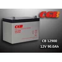 Quality 12V 90ah Solar System Battery , CB12900 Agm Battery Low Self Discharge wholesale