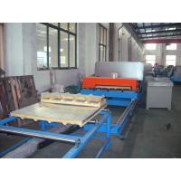 Quality 4 - 8m / min Work Speed Continuously Making PU Sandwich Panel Production Line wholesale