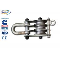 China Alternative Steel Wire Rope Pulley Block , Stringing Iron Rope Pulley Block on sale