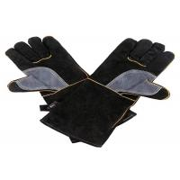 China Extreme High Temperature Heat Resistant Gloves Cow Leather Material on sale