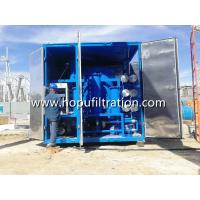 Quality Weather proof enclosed cover transformer oil purification plant, used insulation oil processing unit with shelter wholesale