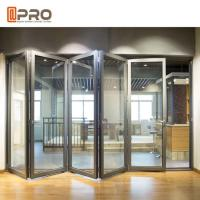 China Modern Design Aluminium Folding Stacking Doors For Residential House on sale
