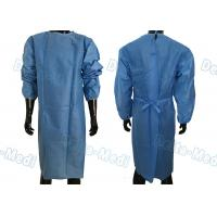 Quality Soft Disposable Protective Gowns , SMS Disposable Medical Gowns With 2 Waist Tie On / Neck Tie On wholesale