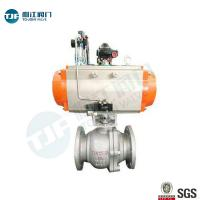 Quality DIN 3357 WCB Industrial Ball Valve With Single Acting Penumatic Actuator wholesale