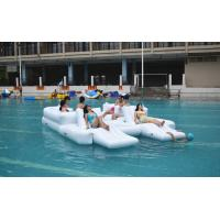 Quality White Color 6 Persons Inflatable Floating Island Lounge For Water Sports wholesale