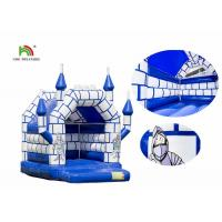 Quality Blue White Commercial Kids Air Jumping Inflatable Castle Toys With Roof wholesale