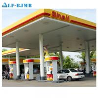 Quality Prefab Fast Installation Cost of Gas Petrol Station Canopy Steel Structure Roof wholesale