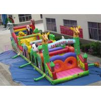 Quality Colorful 0.55mm PVC Wild Animal Blow Up Obstacle Course For Outdoor Sport Games wholesale
