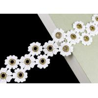 Quality Glitter Inlay Crystal Diamond Nickle Eyelet Lace Trim Embroidered Customized wholesale