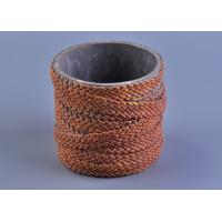 Quality Deco Weave Twine Cylinder Concrete Candle Holders 12cm Bottom dia wholesale