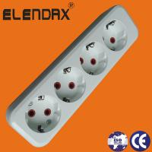 Quality ABS White Two Pin European Extension Socket East Europe Market wholesale