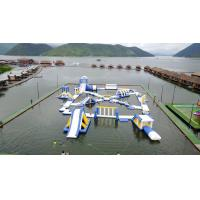 Quality 0.9mm PVC Tarpaulin Inflatable Floating Water Playground For Resort wholesale