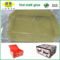 Quality Light Yellow Clear PSA Hot Melt Glue Block For Non Woven Goods Non Aging wholesale
