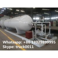 China 20,000L mobile skid-mounted lpg gas refilling station for gas cylinders, 8 metric tons skid-mounted propane plant on sale