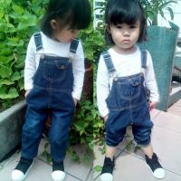 Quality Customized Color Denim Kids Overall Jeans For Baby Girls / Baby Boys / Toddlers wholesale