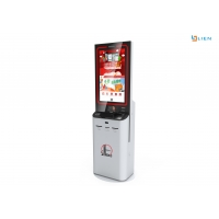 China Touch Screen Information Kiosk A4 Paper Printing And Scanning Multi Media Machine on sale