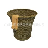 Quality Round Poly Rattan  Laundry Basket for hotel and towel wholesale