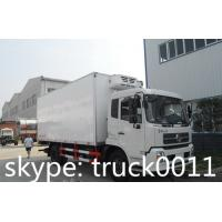 factory selling dongfeng tianjin 4x2 190hp 12cbm meat hook refrigerator truck for sale, 15tons cold room truck for TOGO