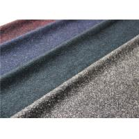 Quality Scarf Herringbone Knitted Terry Cloth Fabric 50% Wool 620 G / M Dry Cleaning wholesale