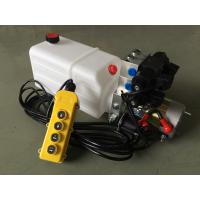 "Quality G3/8"" Oil Port Mini Hydraulic Power Packs , DC 24v Hydraulic Power Pack With 8L Plastic Oil Tank wholesale"