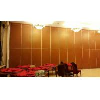 China Folding Sliding Partition Walls Panel Thickness 85mm Aluminium Track Roller on sale