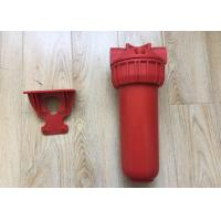 Quality Red Color Plastic Water Cartridge Filter Housing Brass Thread With Wrench wholesale